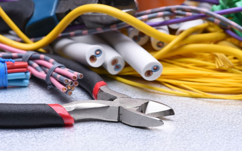   Shutterstock 722885863 Tools And Cable Electrical Installation