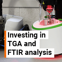 Investment in hyphenated TGA and FTIR technologies
