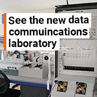See the new data communications laboratory