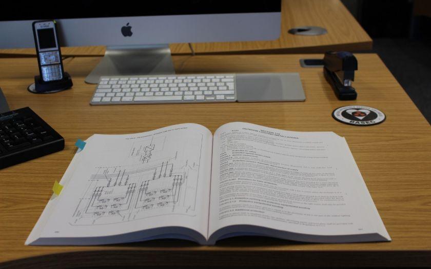   Iet Wiring Regulations Open On Desk Web