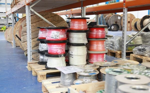 | Figure 2 Cable Product Reels Ready For Installation
