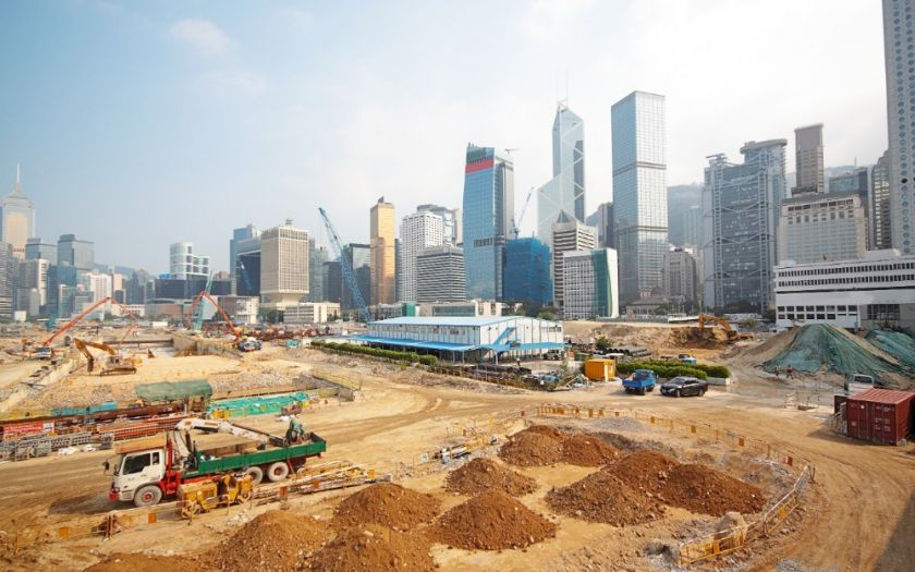 Construction and infrastructure works for the Belt and Road initiative  | Shutterstock 85826749 Construction Site In Hong Kong Web