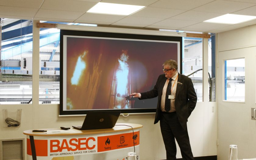 Dr Jeremy Hodge speaking at a BASEC CPR Training Course | BASEC CPR Training Course